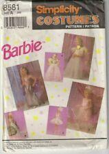 8581 SIMPLICITY  - BARBIE COSTUME MERMAID BALLERINA ANGEL - GIRLS Sz 3/4/5/6/7/8