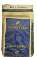 UNITED AIRLINES VTG ROYAL PACIFIC SERVICE PLAYING CARDS NOTEPAD PENCIL SET DECK