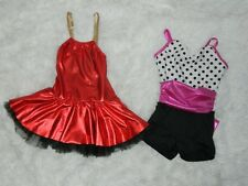 Lot of 2 Weissman Dance Costume  Toddler Girl Size SC Style 5681 and 9048