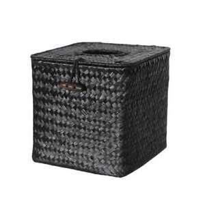 Wicker Straw Woven Square Tissue Box Roll Paper Napkin Case Holder Organizer New