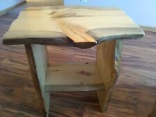 Rustic end table, night stand, rustic nightstand, wood table, live edge table