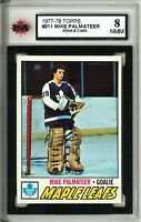 1977-78 Topps #211 Mike Palmateer RC Graded 8.0 (*062319-44)