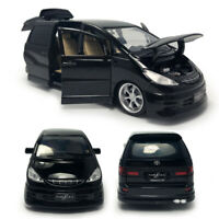 1:32 Toyota Previa Estima MPV Model Car Diecast Toy Kids Collection Gift Black