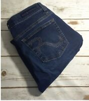 Women's Rock & Republic Berlin Denim Stretch Skinny Jeans Size 8M Cropped Capri