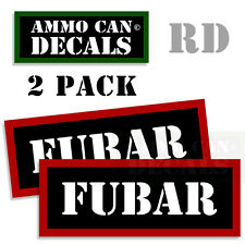 FUBAR Ammo Decal Sticker bullet ARMY Gun safety Can Box Hunting 2 pack RD
