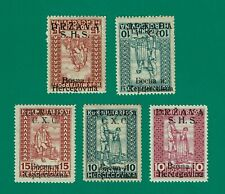 YUGOSLAVIA 1918 War Invalids Lot with 2 Inverted overprint MNH / **
