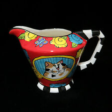 Calico Cat Kitten Creamer Pitcher Catzilla Candace Reiter Colorful Whimsical