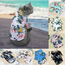 Pet Puppy Summer Shirt Small Dog Cat Pet Clothes Vest T Shirt Beach Style