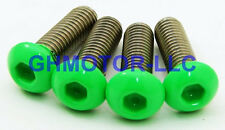 NEW 06 07 ZX-10R ZX1000D COMPLETE NEON GREEN FAIRING BOLTS SCREWS KIT USA