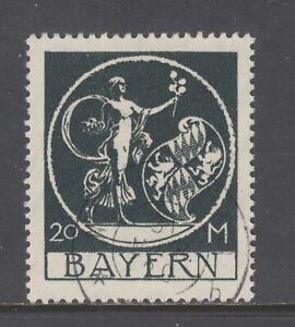 Bavaria Sc 254 used 1920 20m black Genius by von Kaulbach, VF