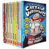 The Adventures Captain Underpants Collection 10 BOOKS By Dav Pilkey PB NEW