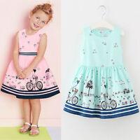 Toddler Children Kids Baby Girls Summer Floral Dress Princess Party Dresses 2-7Y