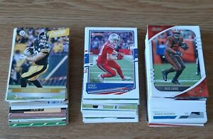 LOTE 100 CARDS PANINI TOPPS NFL FOOTBALL TODAS DIFERENTES f