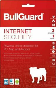 Bullguard Internet Security 12 month subscription 3 PCs