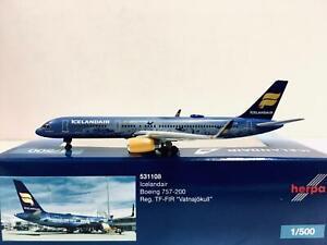"""Herpa Wings Icelandair Boeing 757-200 """"Vatnajokull"""" 1:500 TF-FIR 531108"""