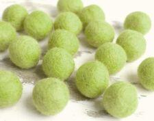 2.5cm GREEN Felt Balls x20.Wool.Party Decor.Pom poms.Felt Ball.Wholesale.