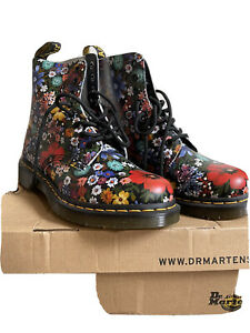 1460 Pascal Floral Dr Martens smooth leather ankle boots Size 6