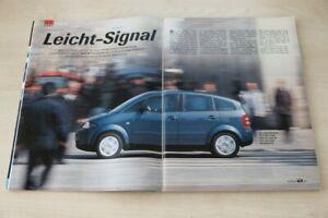 AMS 22916) Audi A2 1.4 mit 75PS im TEST auf 8 Seiten