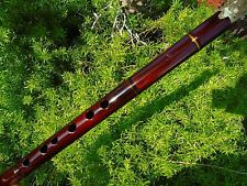 NATIVE AMERICAN STYLE FLUTE MAHOGANY  key  IN (G) Retail-$250 See-VIDEO   NEW