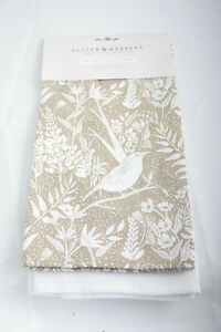 Ulster Weavers ~ THRUSH ~ kitchen tea towels pair BNWT birds pack of 2