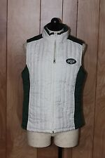 WOMEN'S NEW YORK JETS DOWN FULL ZIP VEST-SIZE: MEDIUM