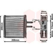 VAN WEZEL Heat Exchanger, interior heating 17006150