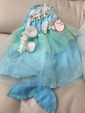 2pc Pottery Barn Kids Blue Baby Mermaid Halloween Costume 12~18 Month