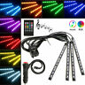 12V LED RGB Car Interior Atmosphere Footwell USB Lights Strip Colors Decor Lamps