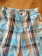 Men's blue Checked Shorts Size Large