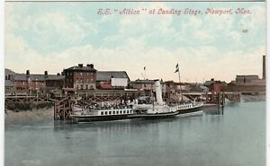 S. S. Albion, Passenger Steamship At Landing Stage, NEWPORT, Monmouthshire
