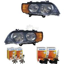 Headlight Set BMW X5 E53 99-03 WITH FLASHING YELLOW H7 +HB3 incl. Lamps 1368113