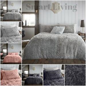 Teddy Bear Fleece Cuddly Faux Fur Duvet Covers Set Fluffy Warm Cosy Bedding Sets