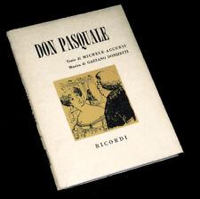 don Pasquale livret seul Accursi opéra Donizetti 1954
