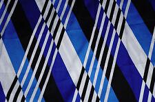 2  yd Diamond Pattern Crepe De Chine Fabric Apparel Blues Blacks  BFab