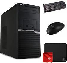 Acer VM4660G Intel i3-8100 4GB RAM 500GB HDD Win10 Pro Desktop Computer Bundle