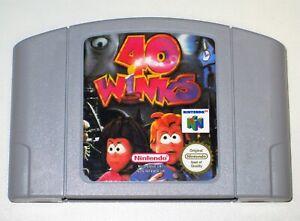 *PAL Version* 40 WINKS English Game For Nintendo 64 N64