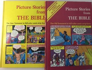 Picture Stories From The Bible The Old New Testament 1979 Comic Strip Form 2 BK
