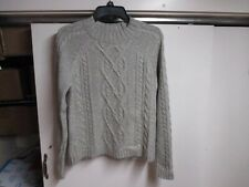 """ABERCROMBIE"" WOMENS GRAY CABLE KNIT SWEATER (SMALL) GRAY VERY WARM"