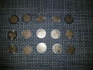 Lot de 15 pièces 2 euros commémoratives
