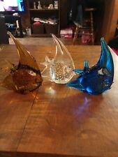 Set Of 3 Fish Paperweights