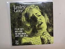 "LESLEY GORE:It's My Party +3-Australia 7"" 60's Philips PE- 16 EP Black Label PCV"