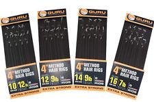 """Guru 4"""" Method Hair Rigs with Speedstops"""