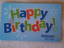 NEW Unused Walmart Happy Birthday Gift Card COLLECTIBLE NO VALUE 2013