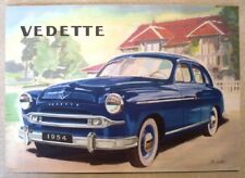 FORD VEDETTE CAR SALES BROCHURE SPANISH TEXT 1954.