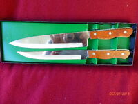 VINTAGE MAXAM STAINLESS STEEL KITCHEN KNIVES CUTLERY WORLDS FINEST LOT 2