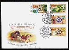 1998 Post Coach,Wisent Head,CAP BOUR,Masonic,Prince Cantemir,Moldova,Mi.291,FDC