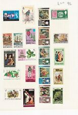 St CHRISTOPHER NEVIS ANGUILLA / BVI PRE 1980's ALBUM PAGE OF 21 STAMPS