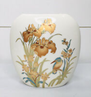Vintage Bone China Japanese Vase Brand New Home Decor Bird Gold Trim Floral