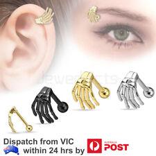 2-4PCS Skull Stainless Steel Earring Ghost Hand Tragus Piercing Body Jewellery