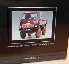 Schuco 1:18 Metallmodell 450014300 - Mercedes Benz Unimog 401 Westfalia Kabine